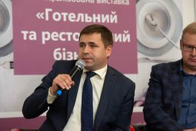 M. Hordiievych during his speech on the Medical Tourism seminar