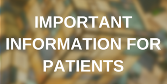 Important information for patients