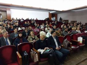 Audience during the Conference on physical rehabilitation in Kyiv