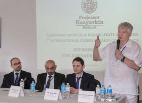 Professor V. Kozyavkin welcomes the quests of the Conference