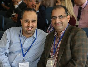Dr. Hamzeh Al Sayouf and Dr. Nazakat Hussain from CMRC