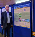 "Oleh Kachmar and our poster ""Stepping games for motor training"""