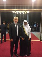 Volodymyr Kozyavkin with Dr. Rashed Hammad Al-Adwani, an Extraordinary and Plenipotentiary Ambassador of the State of Kuwait in Ukraine